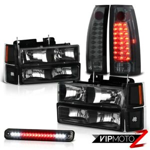 Chevy Silverado 94 98 Pickup Smoke Led Third Brake Taillight Signal Head Lights