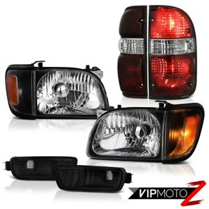 01 02 03 04 Toyota Tacoma Sr5 Rear Brake Lamps Nighthawk Black Headlamps Bumper