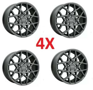 18 Inch Custom Mag Alloy Wheels Rims Charcoal Grey Gray Set Of 4