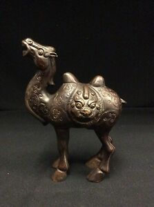 Vintage Chinese Bronze Camel Statue