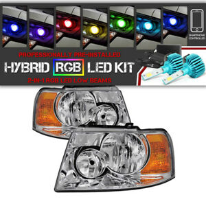 2003 2006 Ford Expedition factory Style Headlamps remote Color Led Low Beam