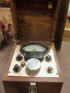 Vintage Behlen Grain Moisture Tester Model A In Wooden Case Neat Farm Primitive