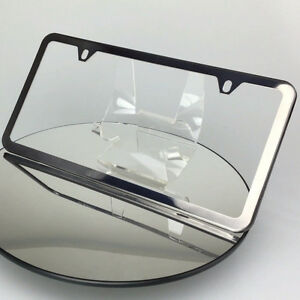 Powder Coate Black Chrome License Plate Slim 2 Hole Stainless Steel Frame Holder