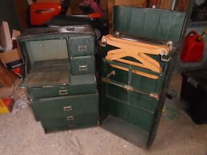 Antique Mendel Drucker Wardrobe Steamer Trunk Luggage Chest