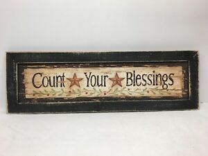 Count Your Blessings Print Country Primitive Home Decor Picture