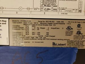 Liebert System 3 Vh199a 15 Ton Air Conditioner