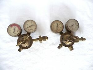 Victor Oxygen acetylene Cutting Torch Compressed Gas Regulators With Gauges Usa