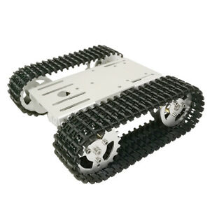 Smart Robot Car Tank Chassis Kit Aluminum Alloy And Code Wheel