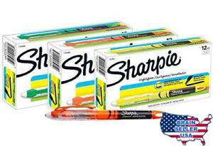 Sharpie Accent Pen style Highlighters 12 Fluorescent Orange 12 Fluorescent Yel
