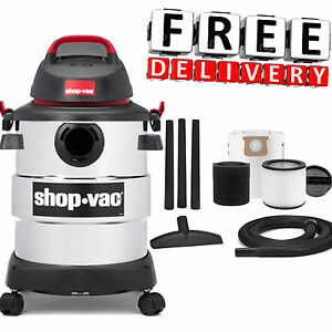 Wet Dry Vacuum Cleaner 6 Gallon Shop Vac Stainless Steel Cartridge Filter New