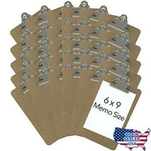 Trade Quest Memo Size 6 X 9 Clipboards Standard Clip Hardboard pack Of 30