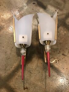 1950s Mid Century Modern Pierre Guariche Acrylic Lighted Wall Sconces Pr