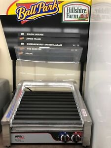 Electric 30 Hot Dog 11 Roller Grill Cooker Machine 1200 watt With Cove