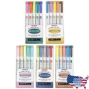 Zebra Mildliner Highlighter Pen Set 25 Pastel Color Set New Free Ship