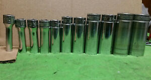 Snap on Usa 3 8 Dr 6 Point Deep Sae Socket Lot 1 4 7 8 Sfs 081 To Sfs 281