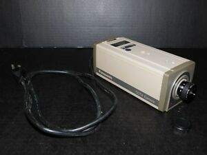 Vtg Panasonic Wv 1410 Cctv Black White Security Camera W Lens Matsushita Japan