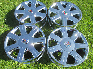 4 17 Cadillac Dts Seville Oem Chrome Wheels Rims 4600