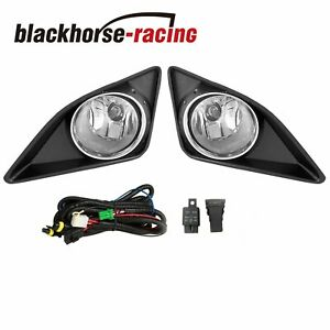 For 2009 2010 Toyota Corolla Clear Lens Bumper Fog Lights Driving Switch W bulb