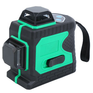 3d Green Laser Level 12 Line 360 Self Leveling Horizontal Vertical With Tripod