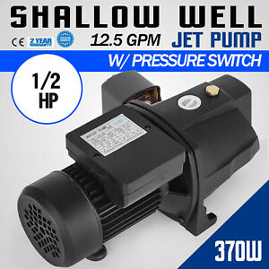 1 2 Hp Shallow Well Jet Pump W Pressure Switch 110v Farms Reliable Supply Water
