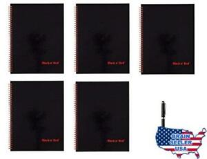 Black N Red Twin Wire Hardcover Notebook 11 X 8 1 2 Black red 70 Ruled She