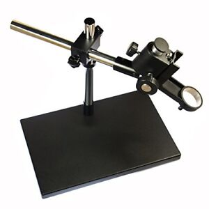 Heavy Duty Dual arm Metal Boom Stereo Microscope Camera Table Stand Ring 5cm