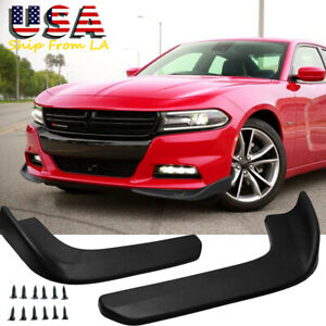 Sport Racing Front Bumper Diffuser Splitter Canard Protector For Dodge Charger