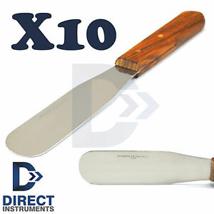 X10 Plaster Alginate Spatula Dental Laboratory Wax Modelling Knife Scrapers