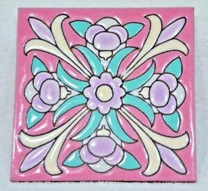 Vintage Ceramic Art Tile Made In Italy 6 X 6 3