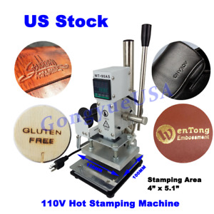 Hot Foil Stamping Machine Pvc Card Tipper Bronzing Press Printer 4 x5 1 Ac110v