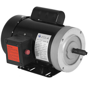 1 Hp Air Compressor Electric Motor 56c Frame 1800 Rpm Single Phase New