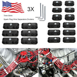 3set 7 8mm Spark Plug Wire Separators Dividers Looms For Chevy Ford