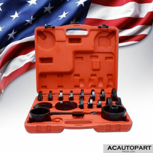 23 Pcs Fwd Front Wheel Bearing Press Tool Removal Adapter Puller Pulley Kit