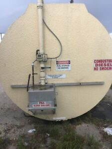 10 000 Gallon Concrete steel Skid Mounted Fuel Storage Tank