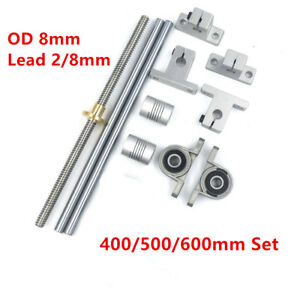 400 600mm Cnc Optical Axis Guide Bearing Housing Rail Shaft Support Screws Set