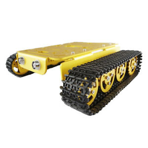 T200 Smart Metal Robot Tank Car Chassis Tracked Kits Dc Motor For Arduino