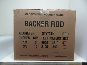 1 4 Closed Cell Foam Backer Rod 4000 Ft Expansion Joint