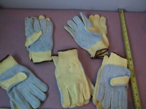 Knit Gloves With Premium Leather Palm Made With Kevlar