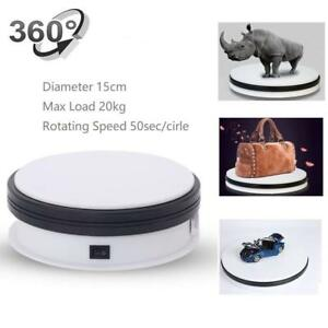 Turntable Display Stand 360 Degree Electric Rotating Cake Decorating Jewelry Etc
