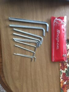 Snap On C15b 10pc Allen Metric Wrench Set 2 10mm 12mm Plus Case U S A