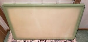 Vintage Cream Green Porcelain Enamel 40 X 25 Kitchen Cabinet Hoosier Table Top