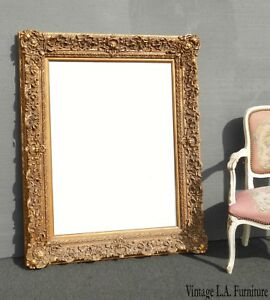Large 52 Tall Picture Frame Vintage French Provincial Ornate Gold Frame Only