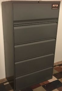 5 Drawer Lateral Heavy Duty Metal File Cabinet By Knoll Group Calibre
