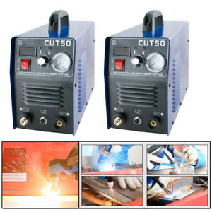 Lot 2x 50amp Digital Inverter Welder Air Cutting Machine Plasma Cutter Cut 50 Us