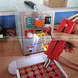 1 9kw 110v 60a Led Dual Pulse Spot Welding Welder Battery Charger foot Pedal
