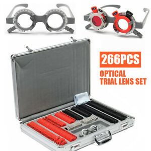 266pcs set Optical Trial Lens Set Plastic Optometry Case W Free Trial Frame