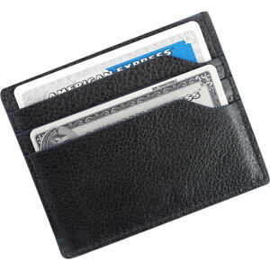 Royce Leather Rfid Blocking Card Case Wallet Black Business Accessorie New