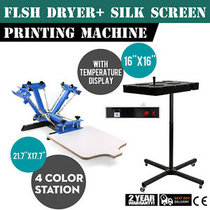 4 Color Screen Printing 1 Station Kit 16 X 16 Temperature Flash Dryer Pro