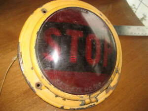 Vintage Cats eye No 100 Stop Light Complete Housing With Lens