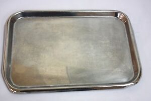 Unmarked Stainless Steel Instrument Tray 336gs